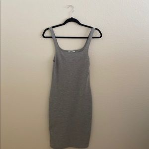 Zara Midi Gray Tank Dress - Small